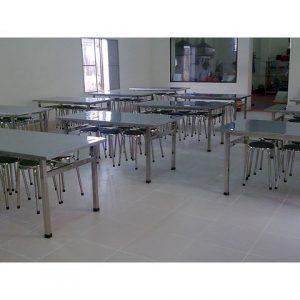 Mẫu bàn ghế inox nhà hàng 01