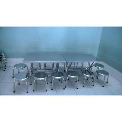 Mẫu bàn ghế inox nhà hàng 02