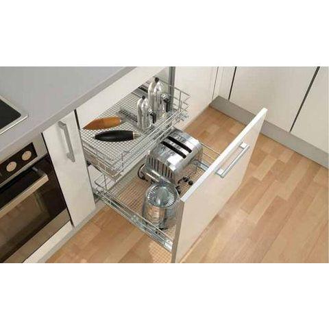 Bộ kéo đựng xoong nồi bên trong tủ bếp