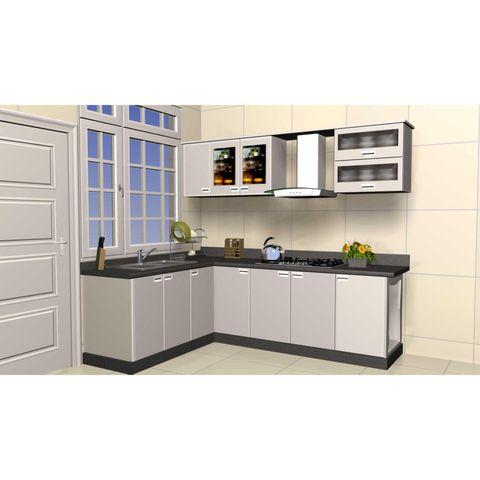 Tủ bếp inox màu bạc