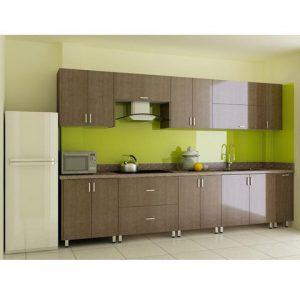 tủ bếp inox vân gỗ