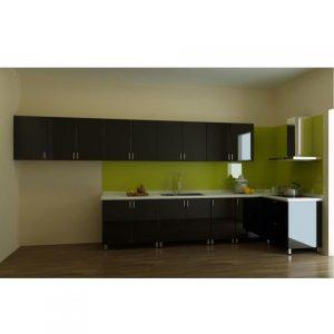 tủ bếp inox màu đen