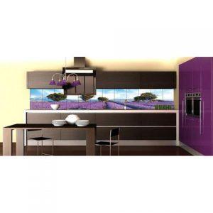 Tủ bếp inox màu tím