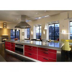 tủ bếp inox màu đỏ