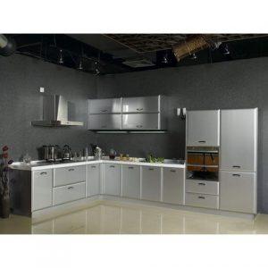 tủ bếp inox hiện đại cánh inox giá rẻ