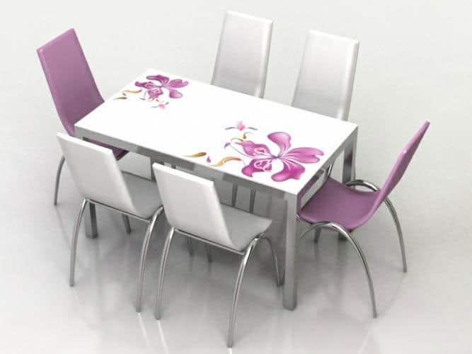 bàn ghế inox phòng ăn