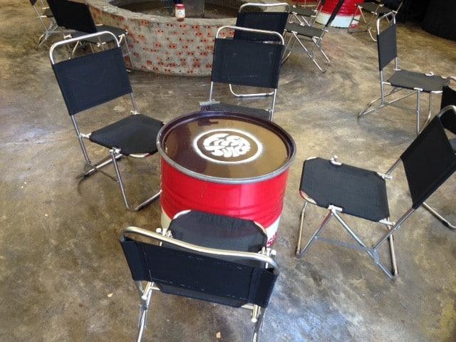 Bàn ghế inox cho quán cafe