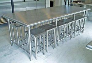 Bộ bàn ghế inox 304 cho quán ăn