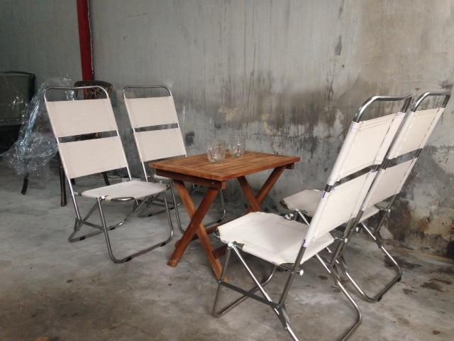ghế xếp inox