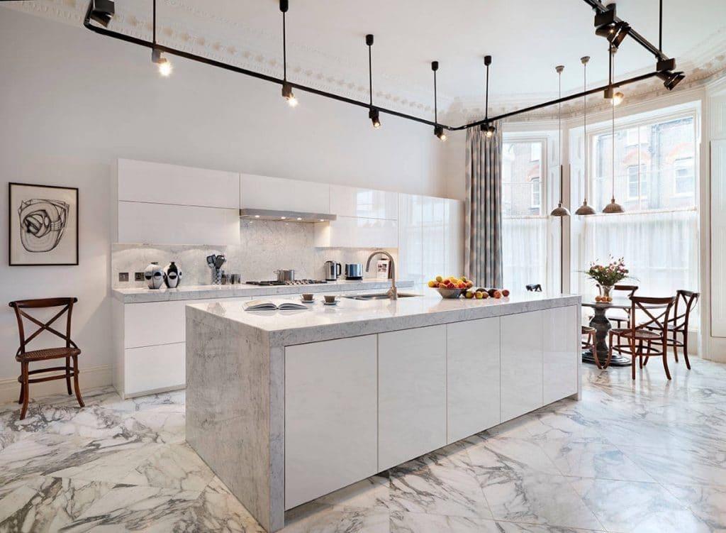 tủ bếp inox đá cẩm thạch giá rẻ