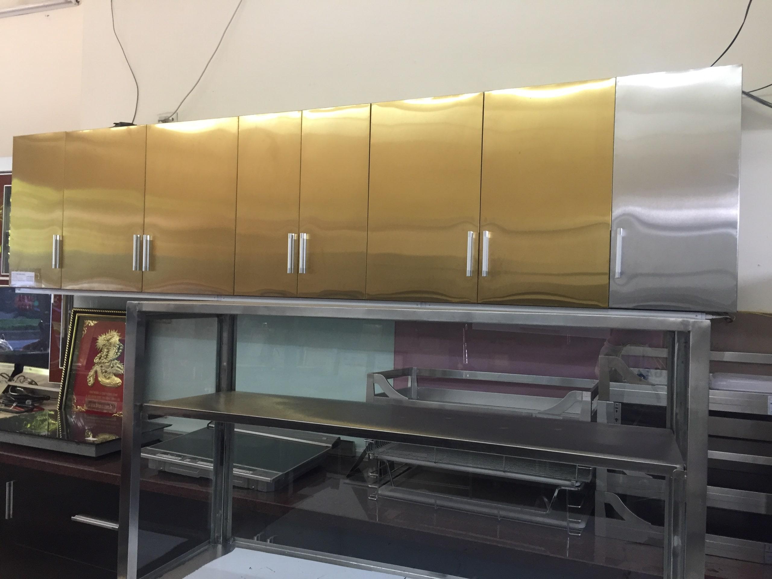 tủ bếp bằng inox đẹp