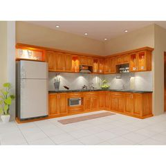 tủ bếp inox cánh gỗ 23