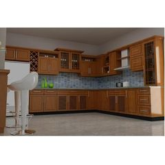 tủ bếp inox cánh gỗ 14