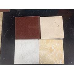 bàn bếp khung inox mặt đá