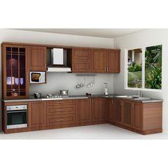 Tủ bếp inox cánh gỗ 16