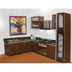Tủ bếp inox cánh gỗ 17