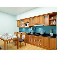 tủ bếp inox cánh gỗ 18