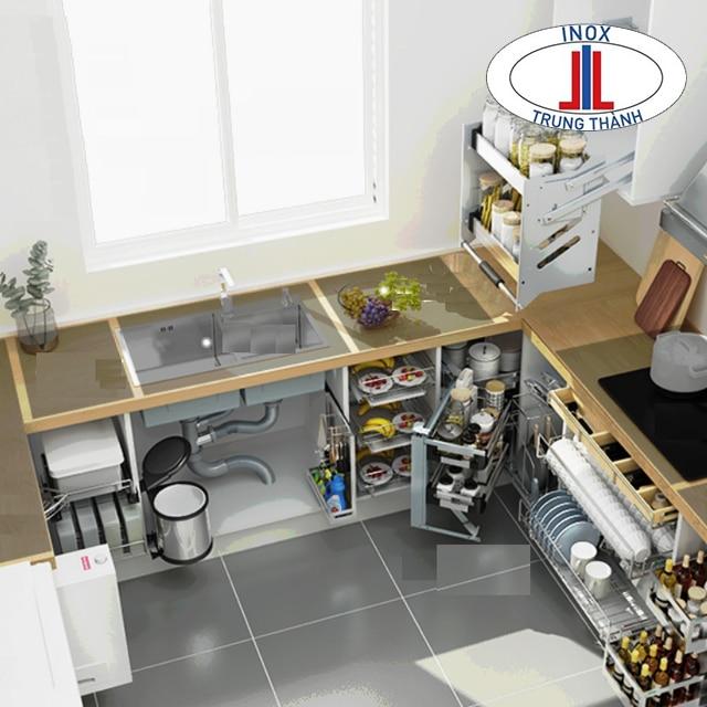 phụ kiện tủ bếp inox