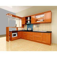 Tủ bếp inox cánh gỗ 03