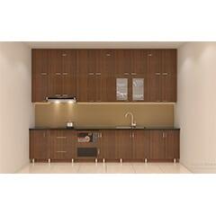 tủ bếp inox cánh gỗ 32