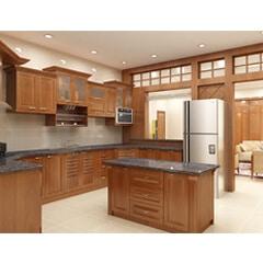 tủ bếp inox cánh gỗ 34