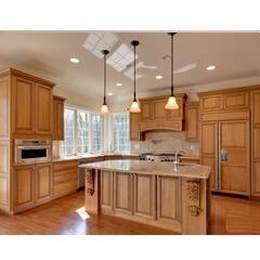 tủ bếp inox cánh gỗ 35