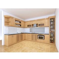 Tủ bếp inox cánh gỗ 36