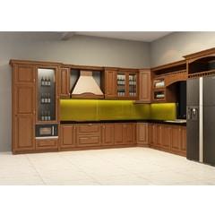 Tủ bếp inox cánh gỗ 37