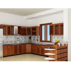 Tủ bếp inox cánh gỗ 39