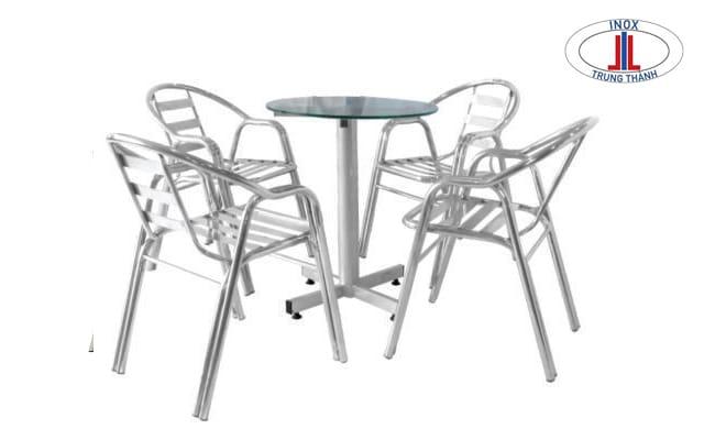 bàn ghế inox giá rẻ